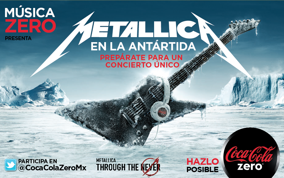 Música Zero Metálica Antártida Coca-Cola Zero