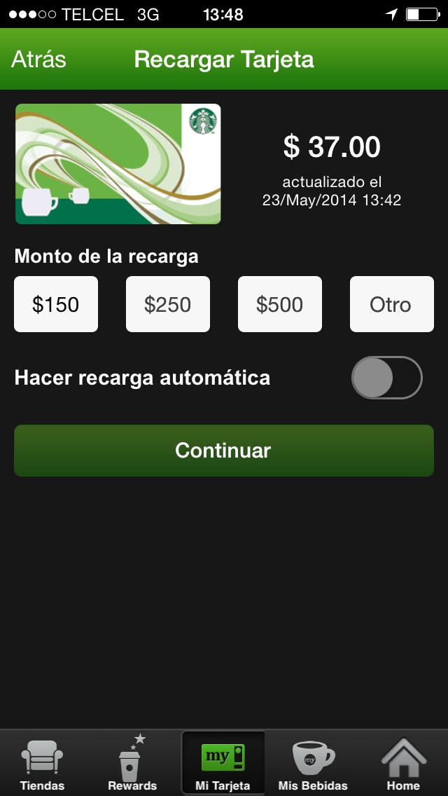 Starbucks App 5